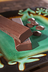 Fortunato No. 4 chocolate, a fine-flavor product made from the Pure Nacional type of cacao identified in northern Peru: Click here for photo caption.