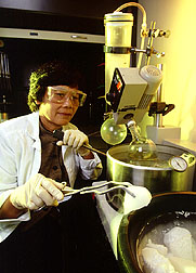 Chemist Perla Schmidt.