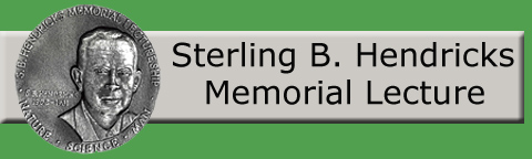 Logo: Sterling B. Hendricks Memorial Lecture