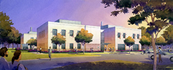 Drawing of the future new WHNRC laboratory and office building: Link to larger image