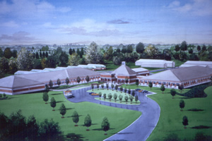 Watercolor rendering of the new NBCL.