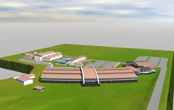 Artist's rendering of ARS' new Hilo research center. Click for a larger version.