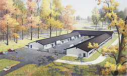 Artist's rendering of new poultry research facility.