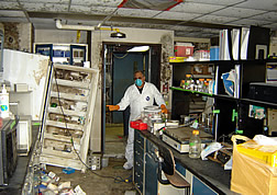 SRRC lab shortly after Katrina struck.