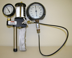 Tool for testing pressure gauges.