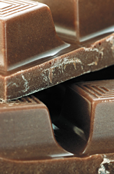Photo: Chocolate, which comes from cacao.