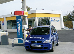 Photo: Hydrogen fueling station for vehicles.