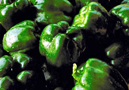 Photo: Green peppers.
