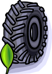 Photo: Drawing of tire.
