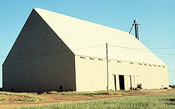 Photo: Peanut storage warehouse.