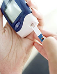 Photo: Blood sugar meter.