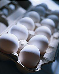 Carton of eggs.