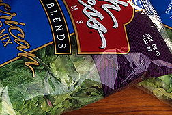 Photo: Package of fresh salad greens. Link to photo information