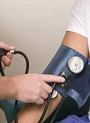 Photo: Blood pressure being taken.