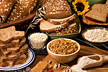Foods containing whole grains.